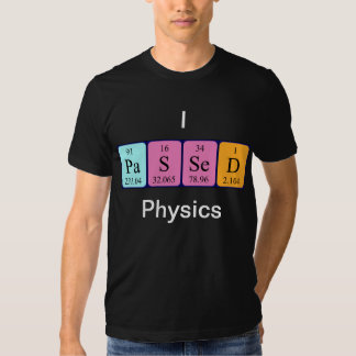 La física pasajera camisa del nombre de la tabla
