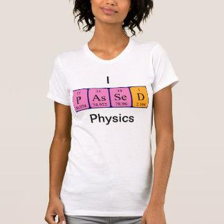 La física pasajera camisa del nombre de la tabla p