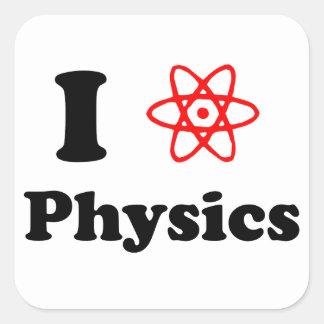 La física pegatina cuadrada