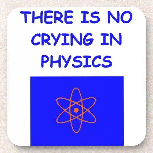 la física posavasos
