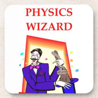 la física posavasos de bebida