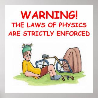 la física póster