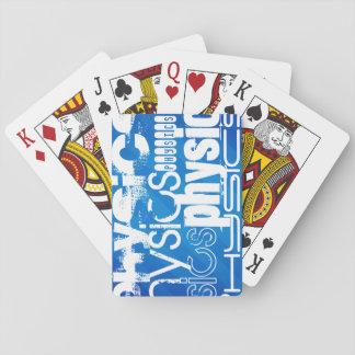 La física; Rayas azules reales Cartas De Póquer