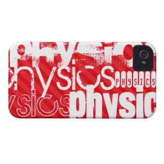 La física; Rayas del rojo del escarlata Case-Mate iPhone 4 Protector