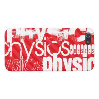 La física; Rayas del rojo del escarlata iPhone 5 Fundas