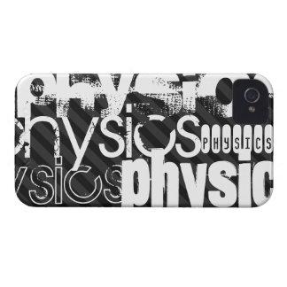 La física; Rayas negras y gris oscuro Case-Mate iPhone 4 Protector