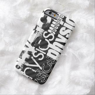 La física; Rayas negras y gris oscuro Funda Para iPhone 6 Barely There