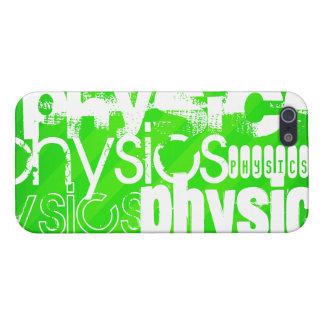 La física; Rayas verdes de neón iPhone 5 Carcasas