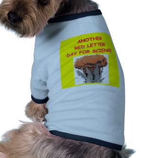 la física camiseta con mangas para perro