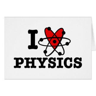 La física tarjeta de felicitación