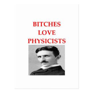 la física tarjeta postal
