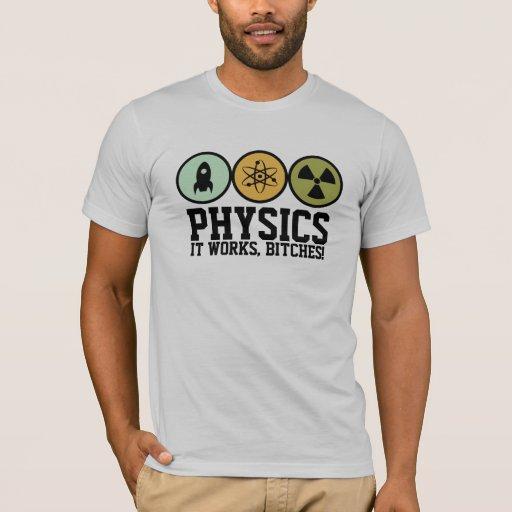 La física trabaja la camiseta de las perras