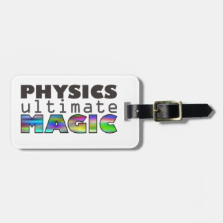 La física - última magia etiqueta de maleta