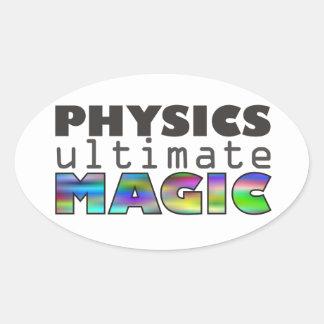 La física - última magia pegatina ovalada