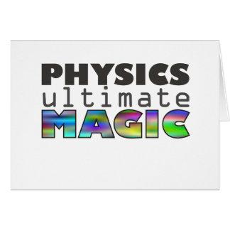 La física - última magia tarjeta de felicitación