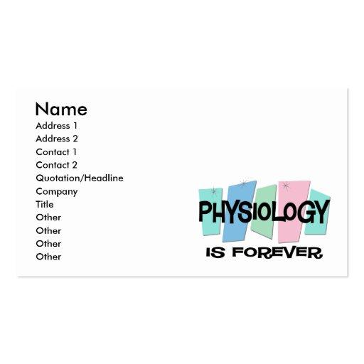 La fisiología es Forever Plantilla De Tarjeta De Negocio