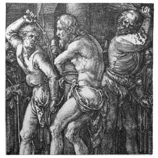 La flagelación de Albrecht Durer Servilletas Imprimidas