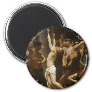 La flagelación de nuestro señor Jesucristo 1880 Imán Redondo 5 Cm