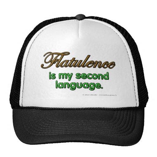 La flatulencia es mi segunda lengua gorros bordados
