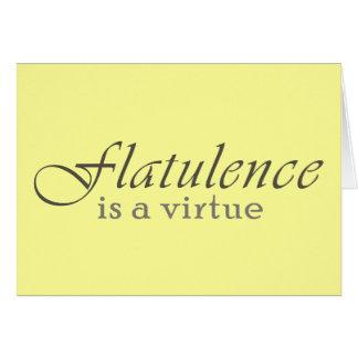 La flatulencia es una virtud tarjeta de felicitación