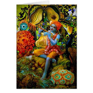 La flauta de Krishna Tarjeta De Felicitación