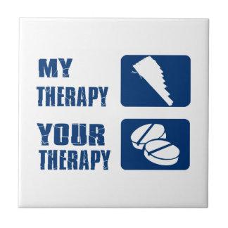 La flauta de la cacerola es mi terapia teja  ceramica