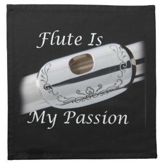 La flauta es mi pasión para la cena de la cocina servilleta de papel