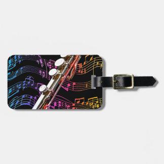 La flauta es mi Passion_ Etiquetas De Maletas