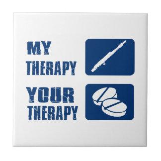la flauta es mi terapia azulejo