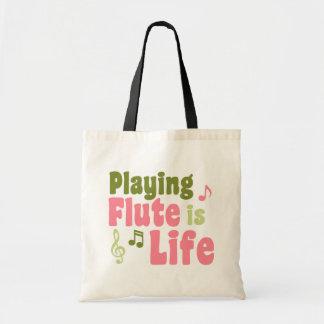 La flauta es vida bolsa de mano