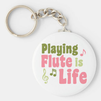 La flauta es vida llavero redondo tipo pin