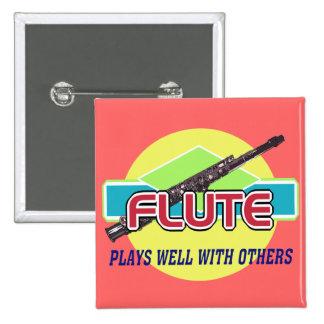 La flauta juega bien pin cuadrado