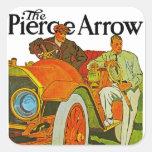 La flecha de Pierce Calcomanía Cuadrada