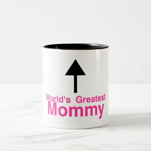 La flecha más grande de la mamá de los mundos taza de café