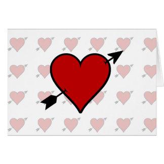 La flecha perforó el corazón felicitaciones