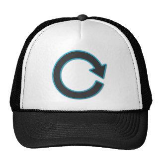 La flecha restaura símbolo gorras de camionero