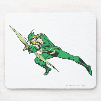 La flecha verde se agacha tapete de ratones