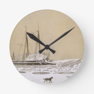 La Fleche at Kil-Bouroun invaded by ice, from 'Nos Round Wall Clock