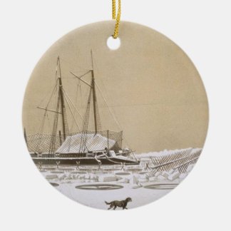 La Fleche at Kil-Bouroun invaded by ice, from 'Nos Christmas Ornament