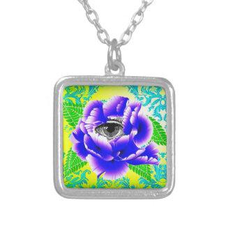 La Fleur de la Sagesse Necklace Colgante Cuadrado