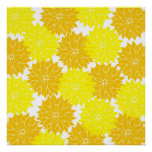 La flor amarilla colorida brillante florece floral impresiones