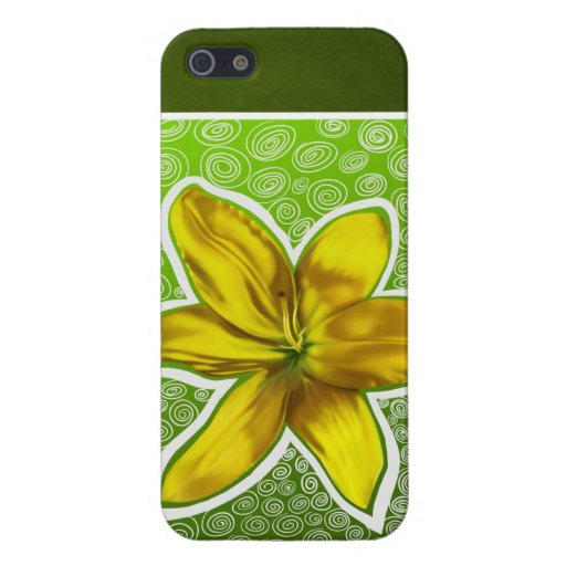 La flor amarilla iPhone 5 carcasa