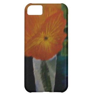La flor anaranjada carcasa para iPhone 5C