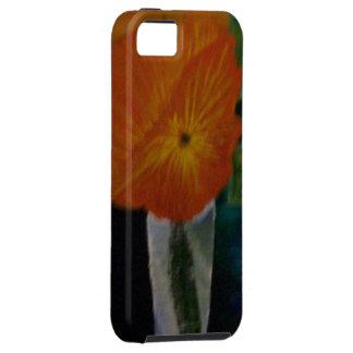 La flor anaranjada funda para iPhone SE/5/5s