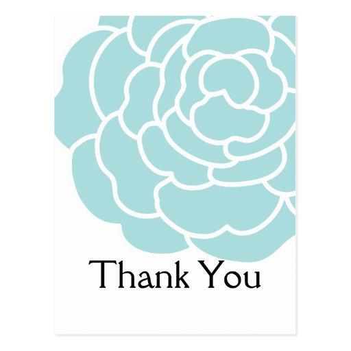 La flor azul grande le agradece las postales 2