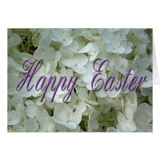 La flor blanca florece Pascua feliz Tarjeta De Felicitación