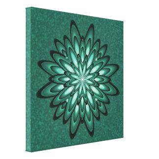 La flor Bokeh de la estrella del verde de mar Lona Envuelta Para Galerías