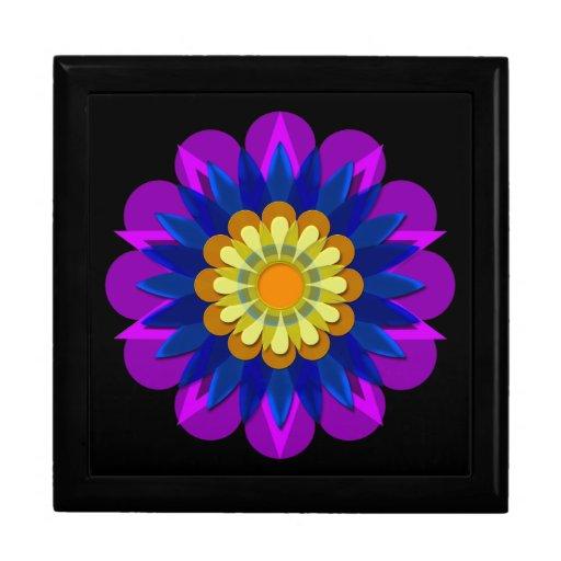 La flor bonita 1 de la lluvia caja de joyas