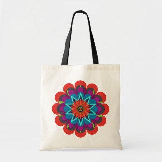 La flor bonita 7 de la lluvia bolsas de mano