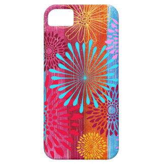 La flor colorida intrépida bonita estalla en rayas funda para iPhone SE/5/5s